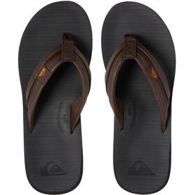 Quiksilver Carver Squish Sandals Men, negro/marrón